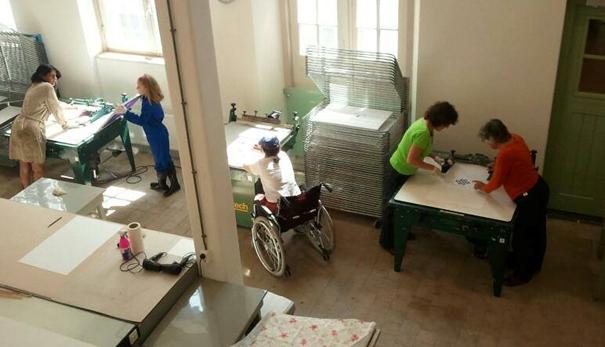 Buren workshop zeefdruk in het Grafisch Atelier Den Bosch